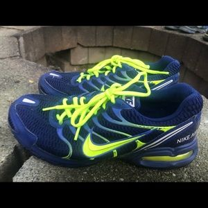 Nike Air Max Torch 4 Men's Navy/Lime Sneakers